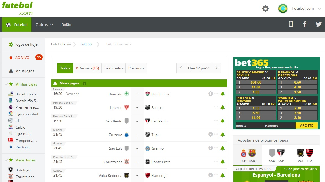 3d5c9cdc8f O site do futebol.com é especializado em resultados ao vivo das partidas